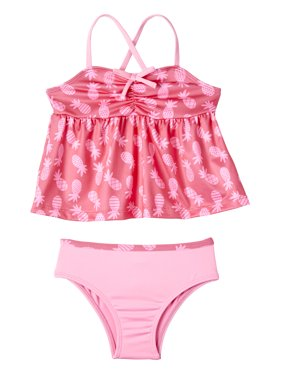 Pink Platinum Pineapple Tankini Swimsuit (Baby Girls & Toddler Girls)