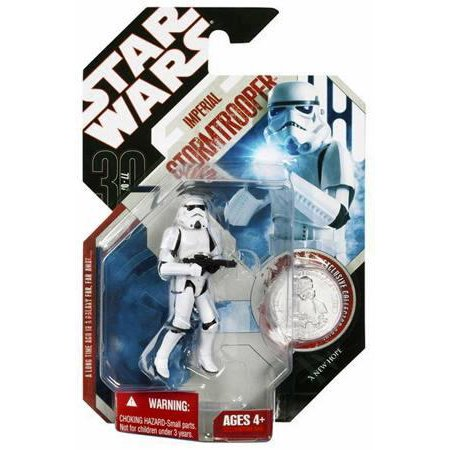 Star Wars 30th Anniversary Coin - Star Wars 30th Anniversary Stormtrooper Action Figure #20 with Coin
