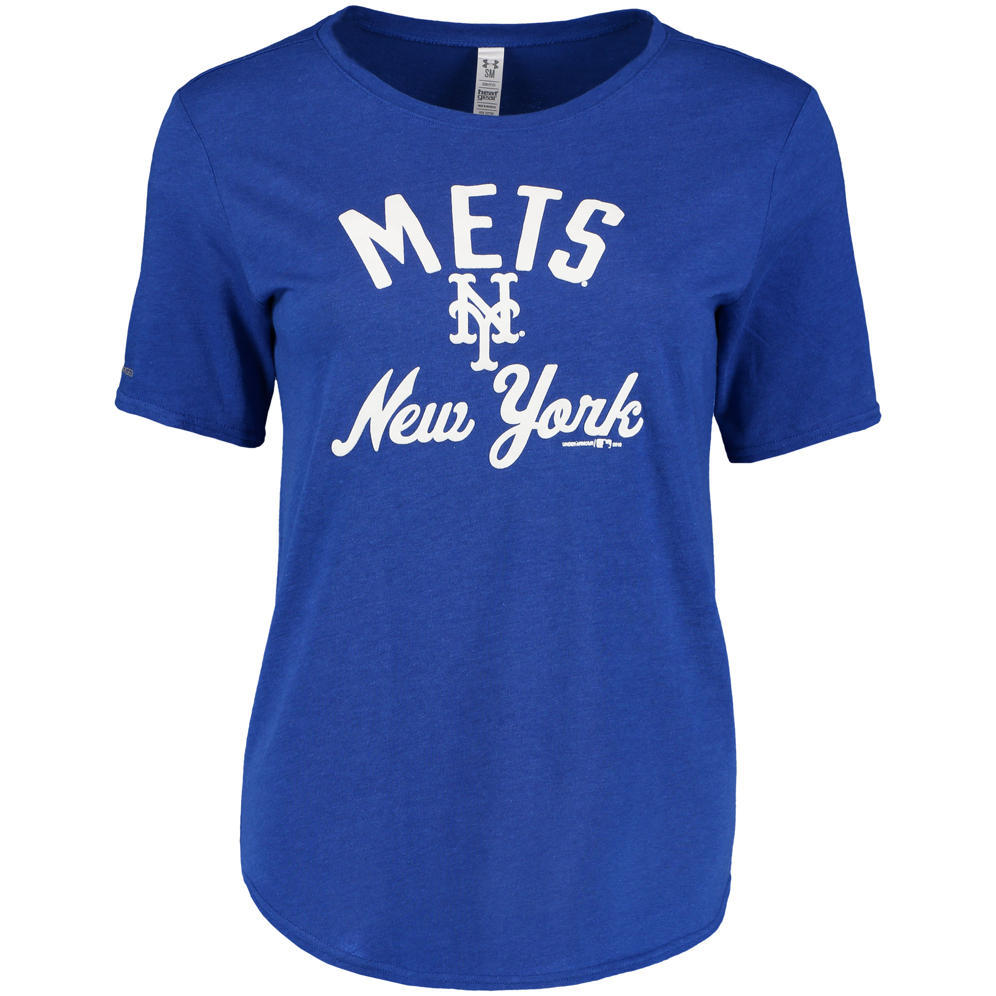 New York Mets Under Armour Women's Rounded Hem Performance T-Shirt - Royal