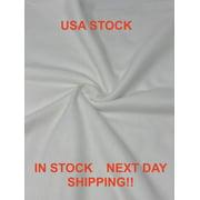 Soft 100% Cotton Sold White Flannel 1/2 Yard