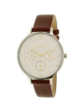 Skagen Women's Anita SKW2394 Silver Leather Quartz Watch