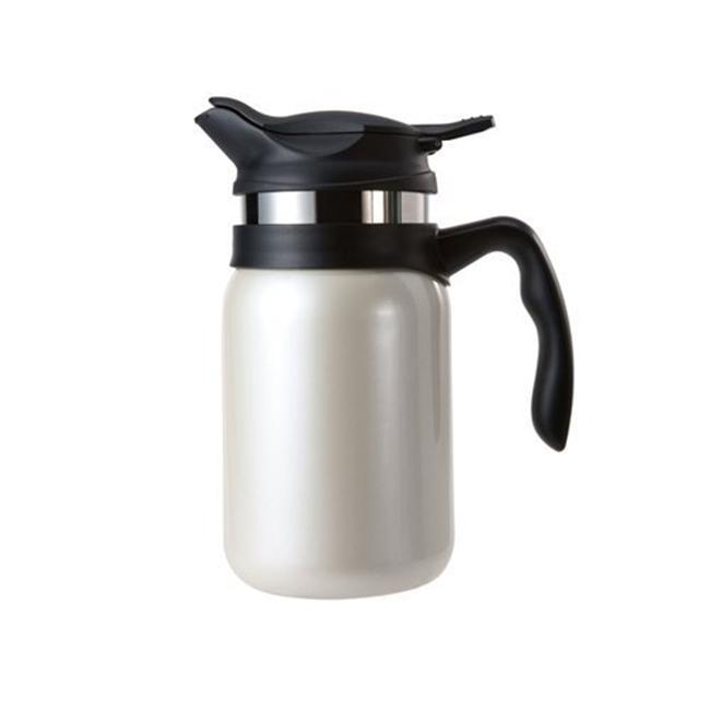Timolino VPJ-60TEMIW 20 oz.  Majestica Insulated Vacuum Coffee And Tea Maker - Ivory White