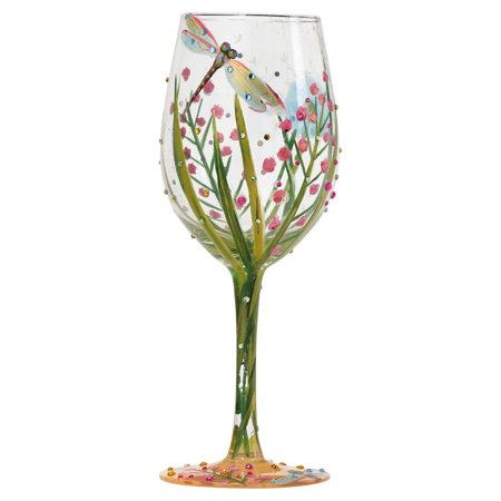 DRAGONFLY LOLITA WINE GLASS Glass Hand Painted Celebrate 4053099