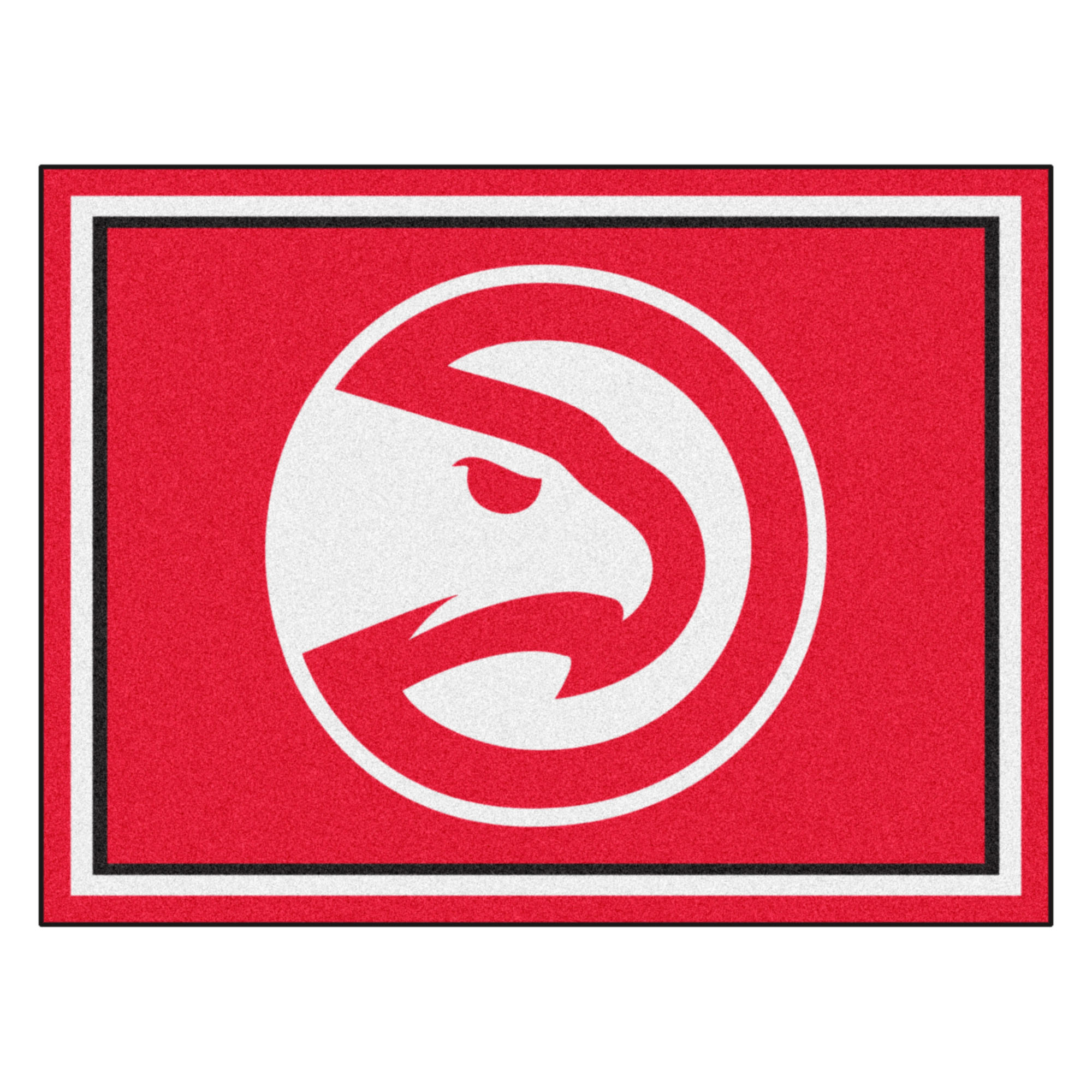NBA Atlanta Hawks 8 x 10 Foot Plush Non-Skid Area Rug