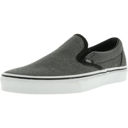 Vans - Vans Classic Slip-On Suiting Black / True White Canvas Skateboarding Shoe - 10M 8.5M - Walmart.com