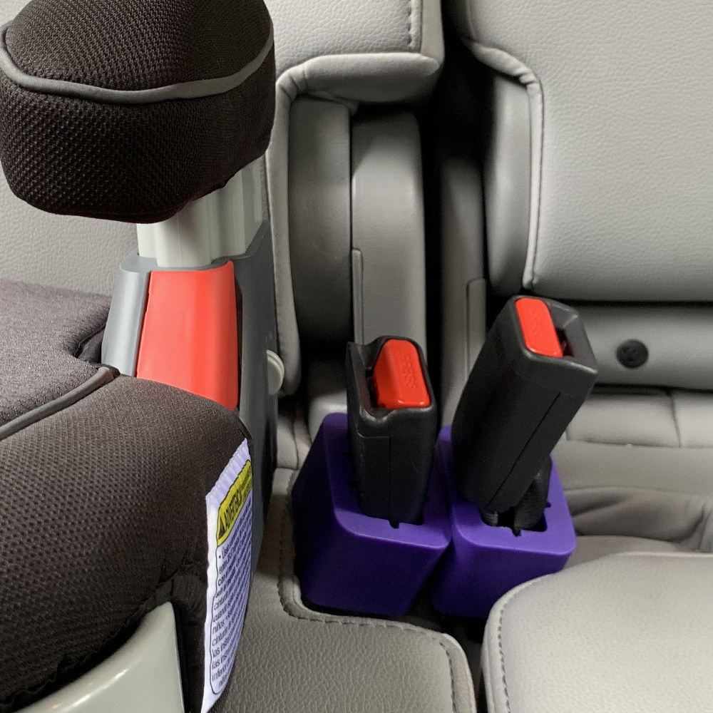 Makes Receptacle Stand Upright for Hassle Free Buckling Stop Fishing for Buried Seat Belts Holds Seatbelt Buckle Upright 2 Pack Seat Belt Buckle Booster Holder Fits Most Vehicles