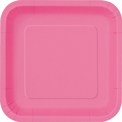 This button opens a dialog that displays additional images for this product with the option to zoom in or out.  sc 1 st  Walmart & Square Paper Plates 9 in Hot Pink 14ct - Walmart.com