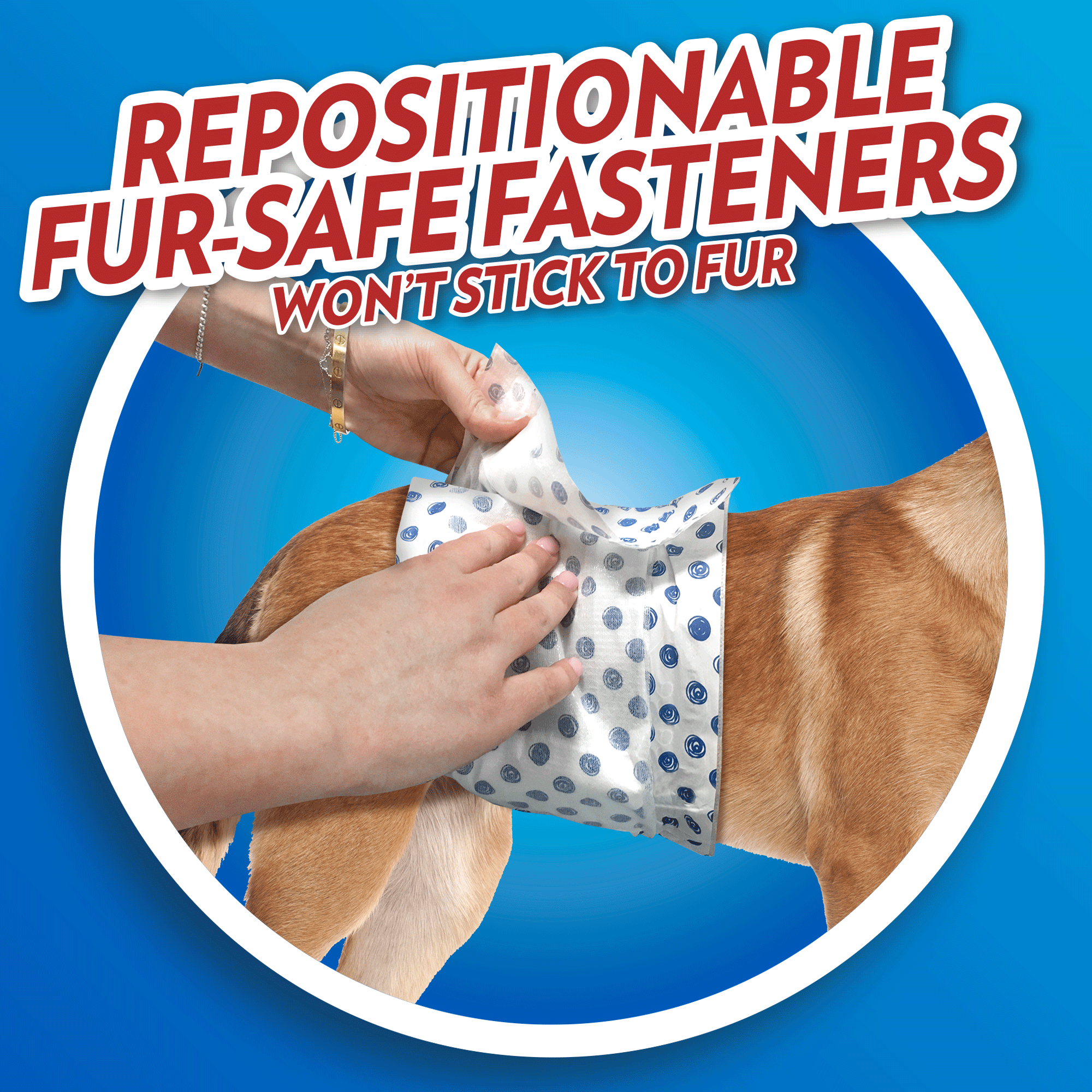 OUT! Pet Care Disposable Male Dog Diapers | Absorbent Male