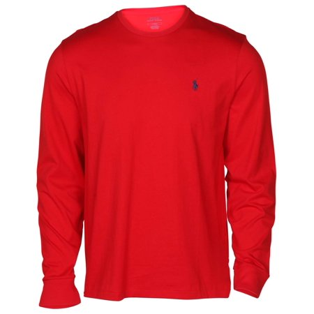 Polo Ralph Lauren Men's Long Sleeve Crew Neck Pony Tee (Red, (Mint Green Ralph Lauren Polo)