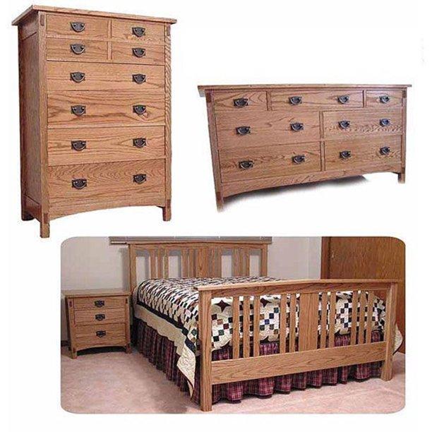 Mission Bedroom Woodworking Plan Walmart Com Walmart Com