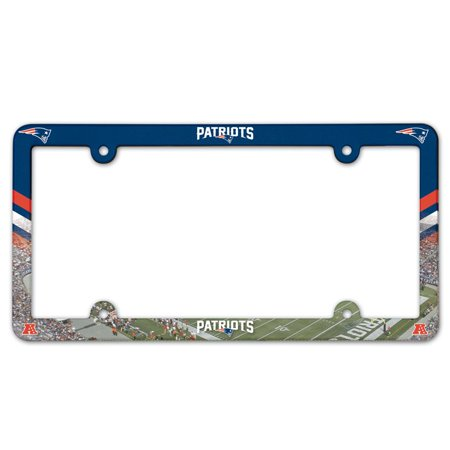 New England Patriots Official NFL 6 inch x 12 inch Plastic License Plate Frame by Wincraft