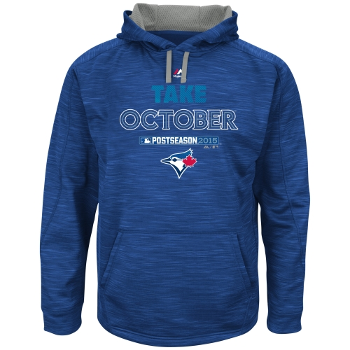 Toronto Blue Jays Majestic 2015 Playoff On Field Take October Streak Fleece Hoodie - Royal - XXL