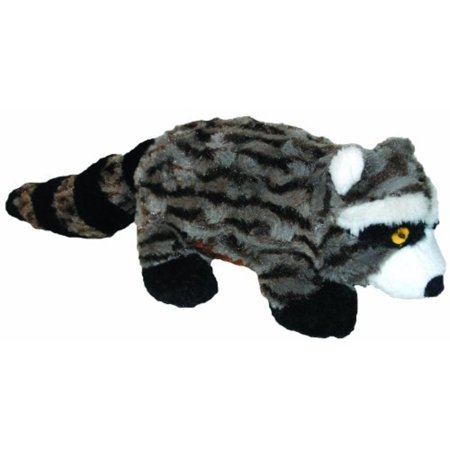 Swirl Racoon 15-Inch Squeak Toy for Dogs, Made with durable plush swirl fabric By Patchwork Pet
