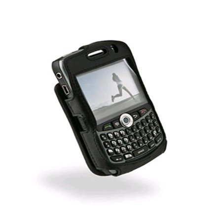 Sydney Harbour Lambskin Leather Case for BlackBerry Curve 8300/ 8310/ 8320/ 8330 - Black (Lambskin Fitted Case)