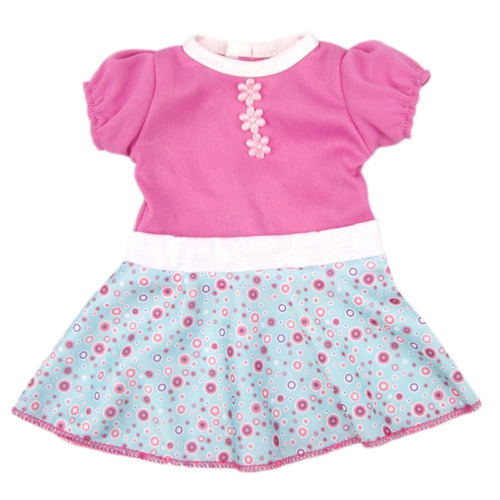 bJy doll dress clothes, aoful custom design flower patterns outfit fits 14'' 16 inch alive american girl dolls and more