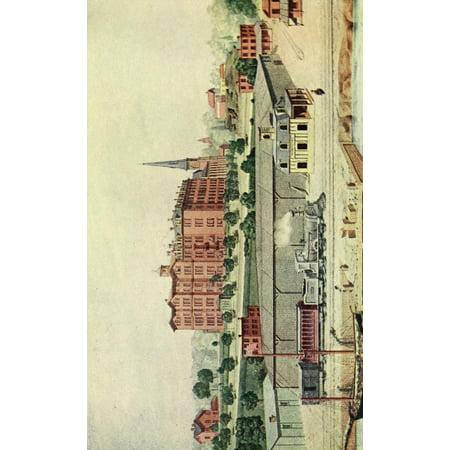 Valentines manual of old New York 1919 Manhattan College & Station 1855 Canvas Art - Unknown (24 x