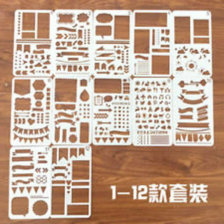 20pcs DIY Bullet Journal Stencil Set Plastic Planner Drawing Template Diary (Craft International Stencil)