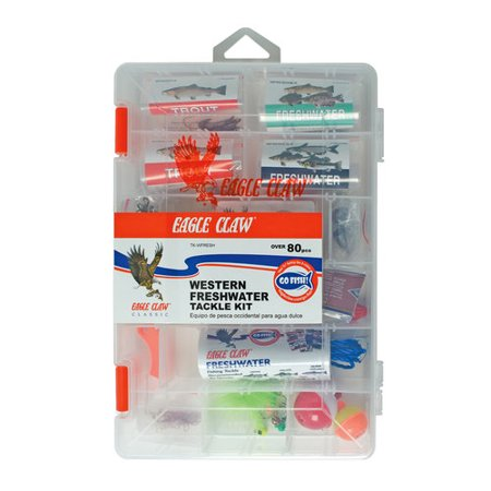 Eagle claw western fresh water tackle kit for Fishing kit walmart