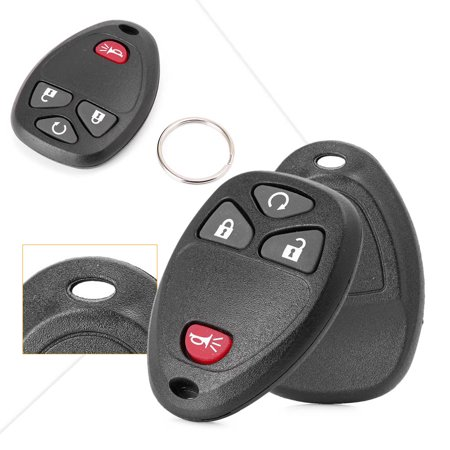 GZYF 2 Keyless Entry Remote Control Key Fob Replacement 4-Button for GMC ACADIA SAVANA SIERRA CHEVROLET AVALANCHE SILVERADO