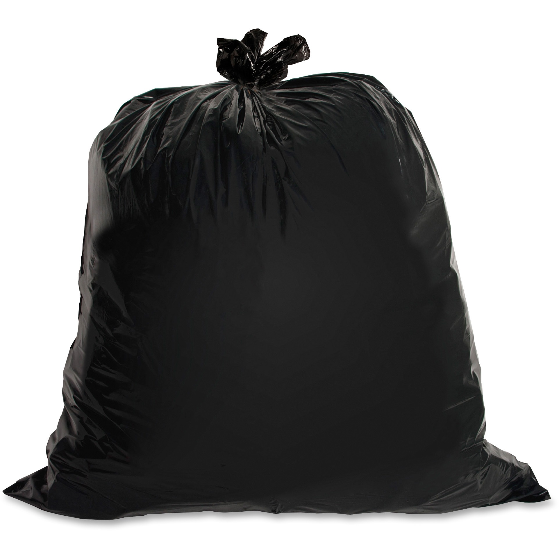 Genuine Joe, GJO01534, Heavy-Duty Trash Can Liners, 50 / Box, Black