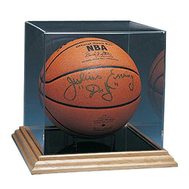 Caseworks International CAS-BB-402 Basketball Display Case - Wood Base - No Logo