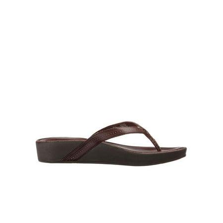 2af9dcb9594ee3 OluKai - OluKai Ola Women s Leather Wedge Sandals 20322-4848 - Walmart.com