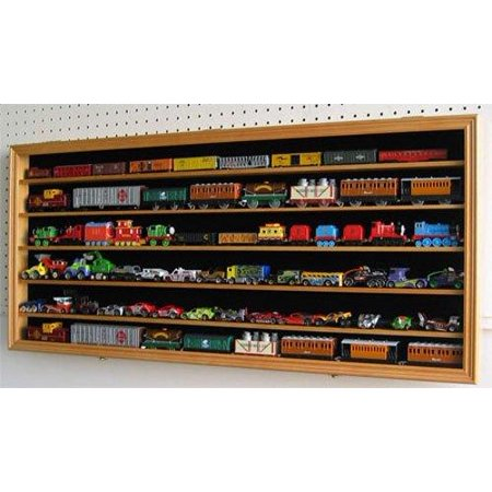 HO, N Scale Trains, Hot Wheels, Lego Minifigures Display Case Hot Wheels Wall Cabinet-(HW05B-OA) ()