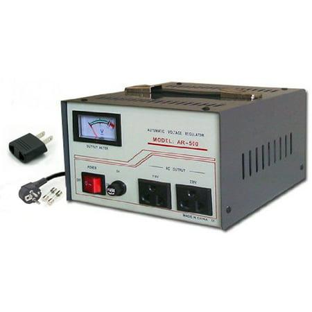 500w Voltage Converter - 500 Watt Voltage Converter with Stabilizer AR500 500W 110-220 Volt Power Transformer