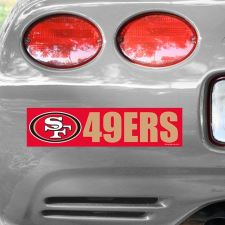 San Francisco 49ers WinCraft Bumper Sticker - No Size](49er Decorations)