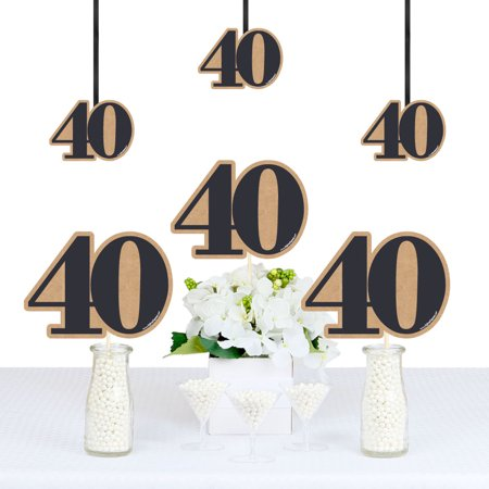 40th Milestone Birthday - Decorations DIY Party Essentials - Set of 20](40th Decorations)