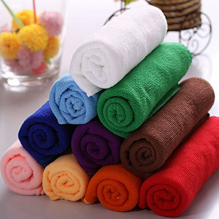 Hand Towel Washcloth (Leadingstar 10pcs Practical Durable Soft Fiber Cotton Face Hand Cloth Towels)