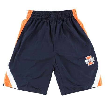 Stadium Mens Illinois Fighting Illnie College Wave Text Basketball Shorts Navy Blue (Mens Navy Blue Bull)