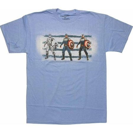 Captain America Soldier Art Steps T Shirt