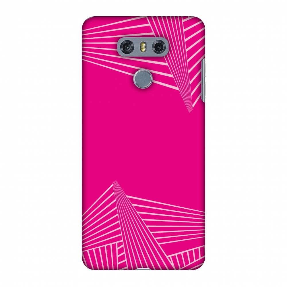 LG G6 Case, LG G6 Plus Case - Carbon Fibre Redux Hot Pink 3,Hard Plastic Back Cover, Slim Profile Cute Printed Designer Snap on Case with Screen Cleaning Kit