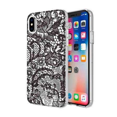pretty nice 26943 8f1d5 KENDALL + KYLIE Protective Printed Case for iPhone X - Lace Print Black  Foil/Translucent Black