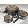"T-fal 9.5"" & 11"" Dishwasher Safe Non-Stick Black Fry Pan Set, 2 Count"
