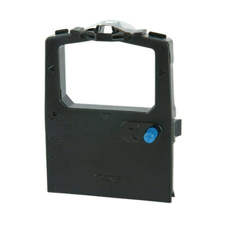 Nylon Printer Ribbon (Compatible OKI 52102001 Black Nylon Printer Ribbon, Pack of 6 (Non-OEM))