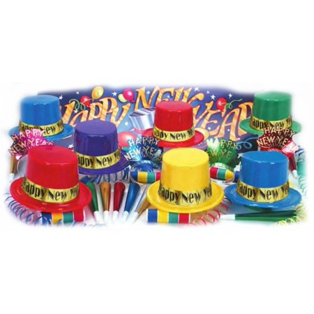 Dazzling Happy New Year Party Kit For 50 Guests