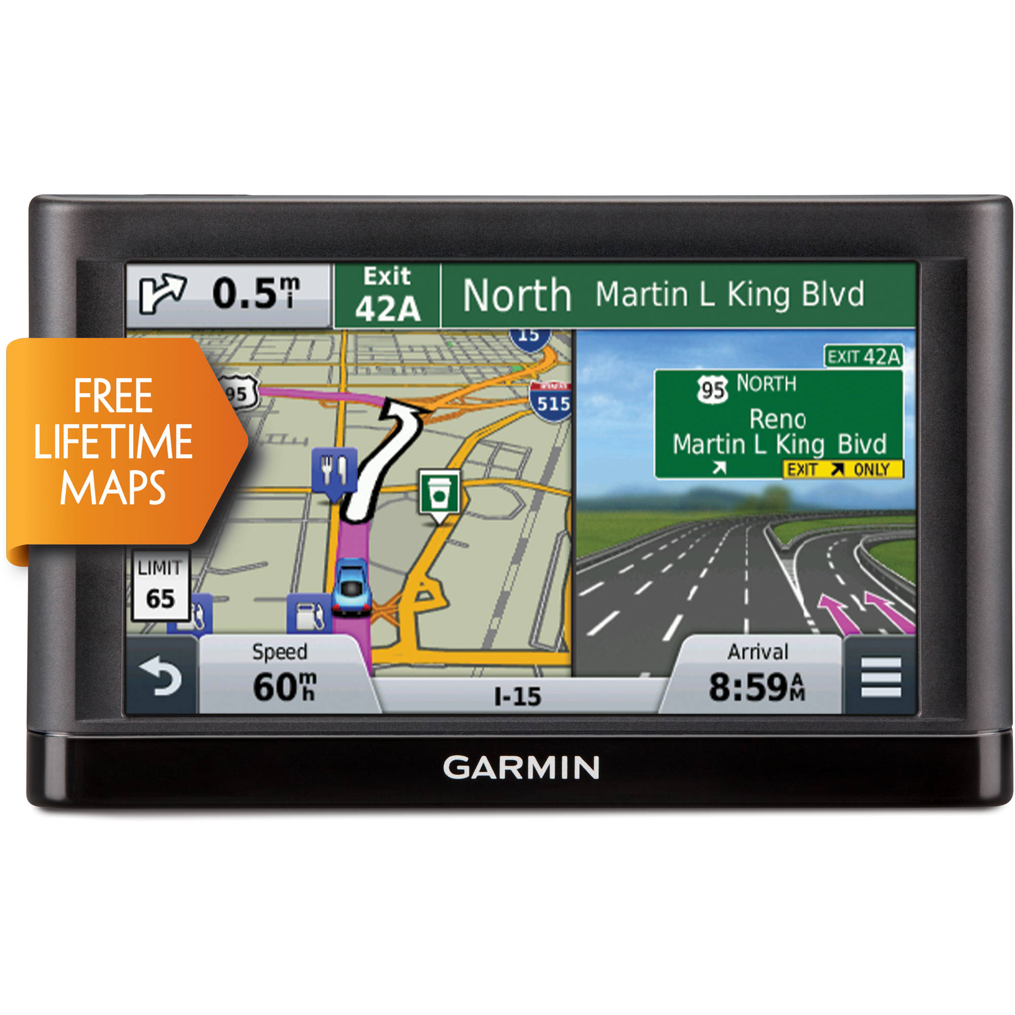 "Garmin NUVI55LM nuvi 5"" GPS with Lifetime Maps"