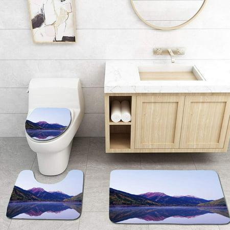 XDDJA Autumn Lake 3 Piece Bathroom Rugs Set Bath Rug Contour Mat and Toilet Lid Cover - image 1 de 2
