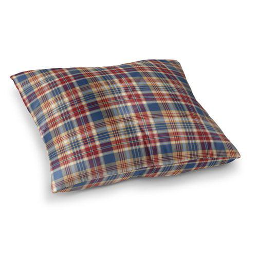 Loon Peak Hogan Plaid Indoor/Outdoor Floor Pillow