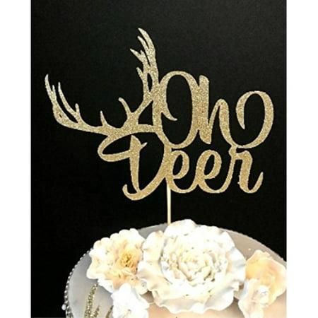 d81b6d9f8a6cf Oh Deer Baby Shower Cake topper