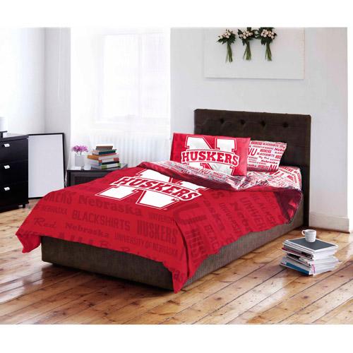NCAA University of Nebraska Cornhuskers Bed in a Bag Complete Bedding Set