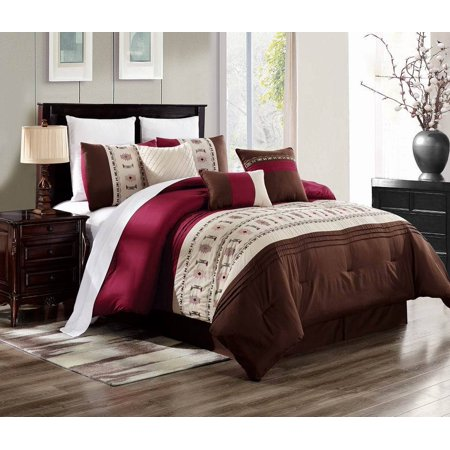 BRENDA-15 QUEEN 3 Piece Premium Ultra Soft Duvet Cover Bedding Set, One (1) Oversized Embroidered Duvet Cover with Two (2) Pillow Shams (Oversized Queen Duvet)