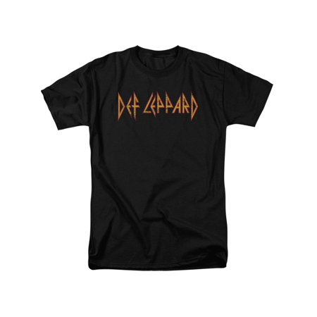 Def Leppard 80s Heavy Metal Band Horizontal Logo Adult T-Shirt Tee