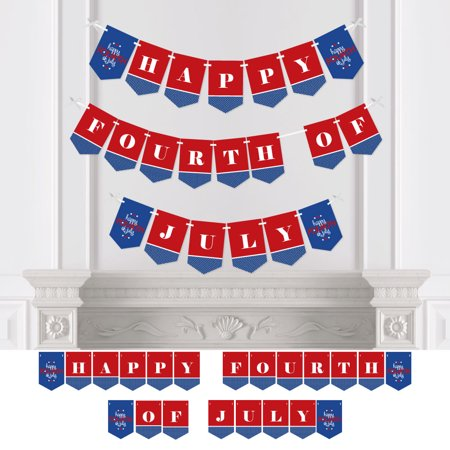 4th of July - Independence Day Party Bunting Banner - 4th of July Party Decorations - Happy Fourth of - 4th Of July Bunting