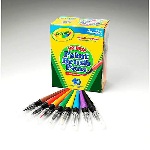 Crayola Less Mess Paint Brushes, Value Pack