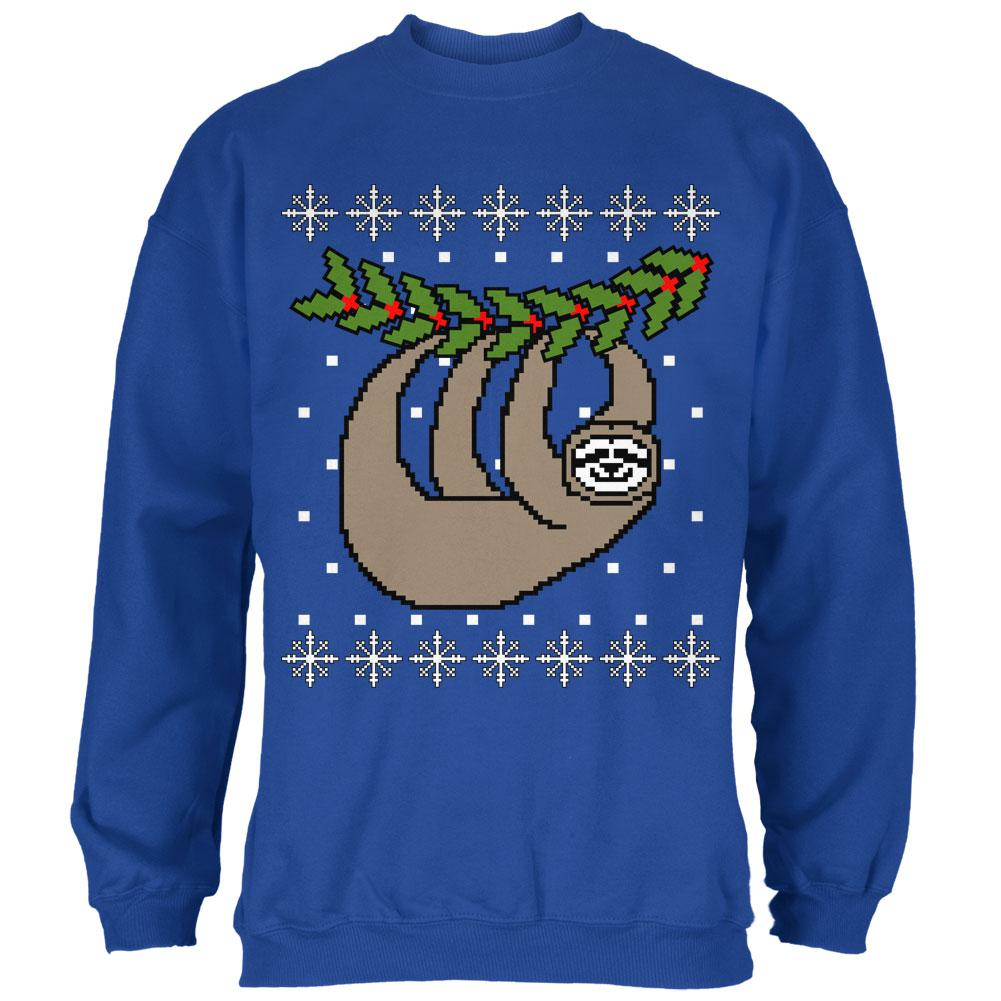 Big Hanging Sloth Ugly Christmas Sweater Mens Sweatshirt