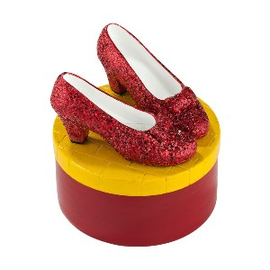 Department 56 Wizard of Oz Ruby Slippers Trinket Box 2013