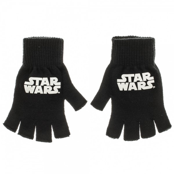 Gloves - Star Wars - Logo Fingerless New Toys Licensed kg3fqgstw